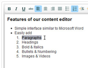 Graphical Content Editor