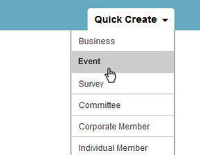Easy event creation for membership organisations