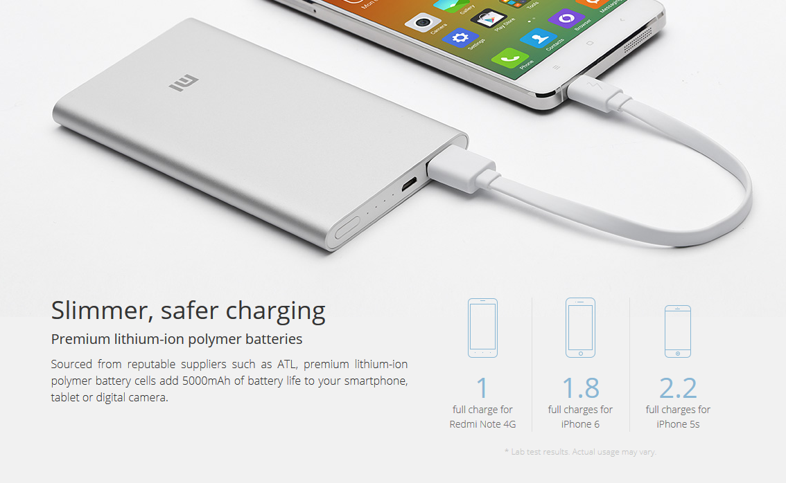 Xiaomi batter chargers