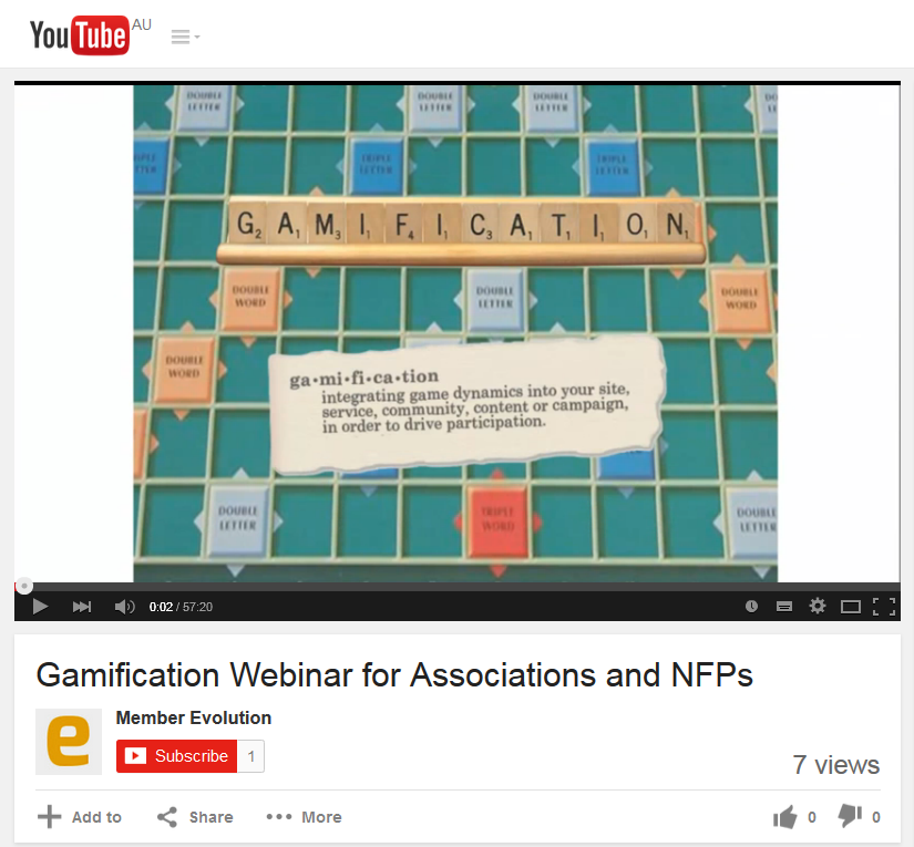 Gamification webinar recording
